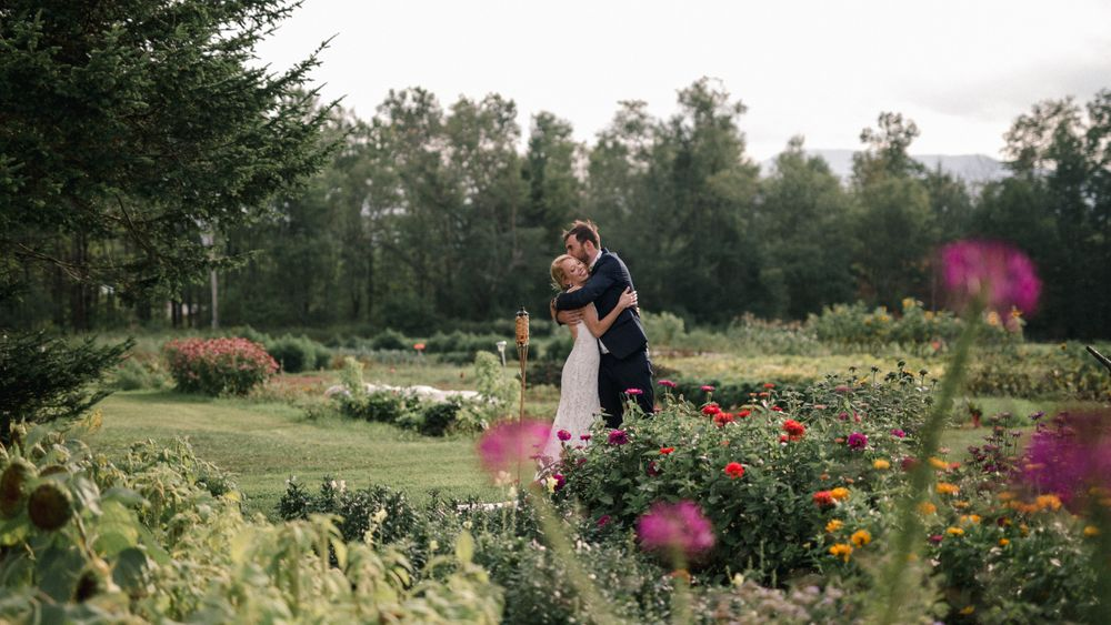 Organic gardens. Farm grown flowers available for custom arrangements. (Meg Haley Photographs)