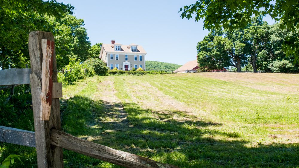 View of house when approaching the property.  (Victoria Boucher Photography)