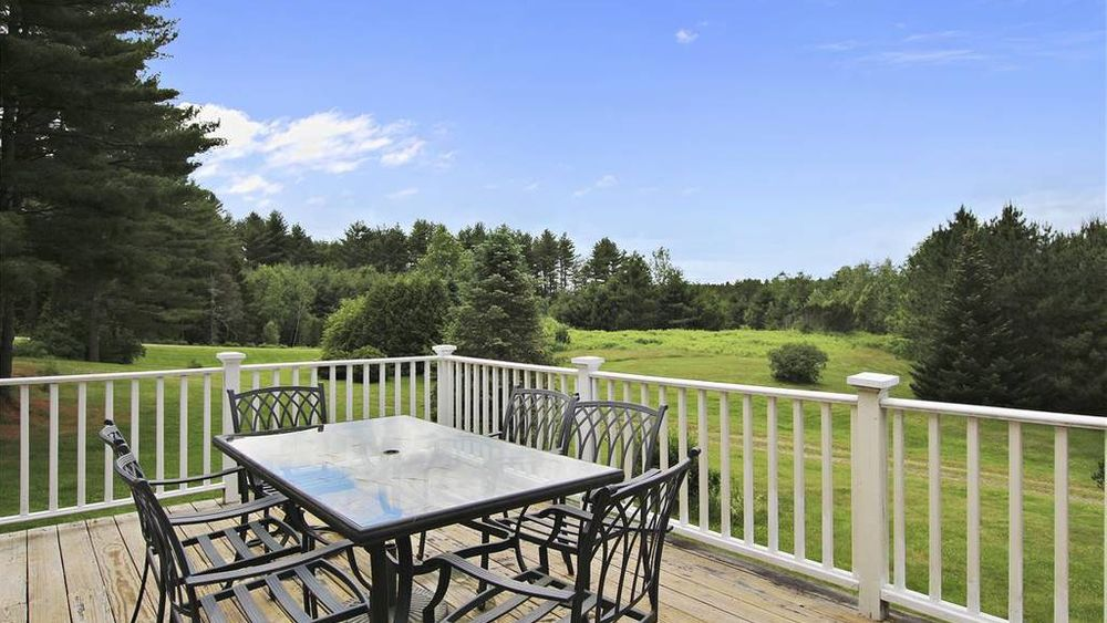 Private Dining Patio over looking 40 acres of land.