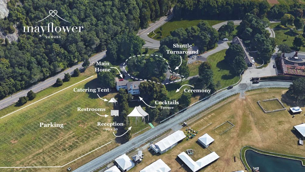 Aerial site map of venue.