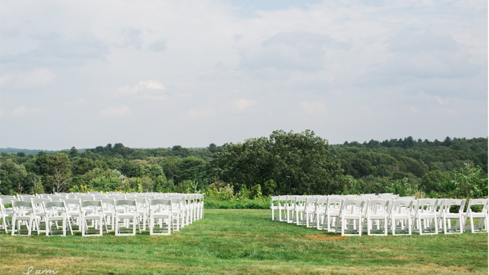 Ceremony area at the top of the hill. Photo Credit: I am Sarah V Photography