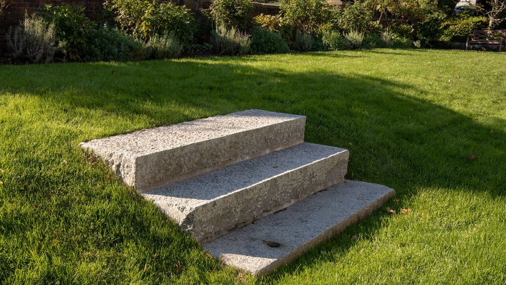 Historic stone steps to the additional garden area. Photo Credit: Shirtcliff Photography