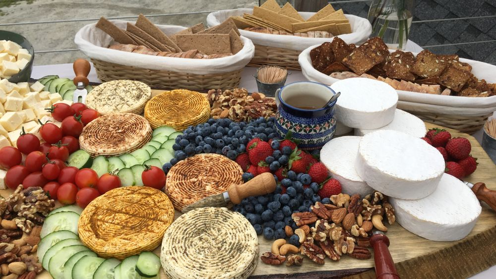 Farmstead cheese and charcuterie platters available for additional fee