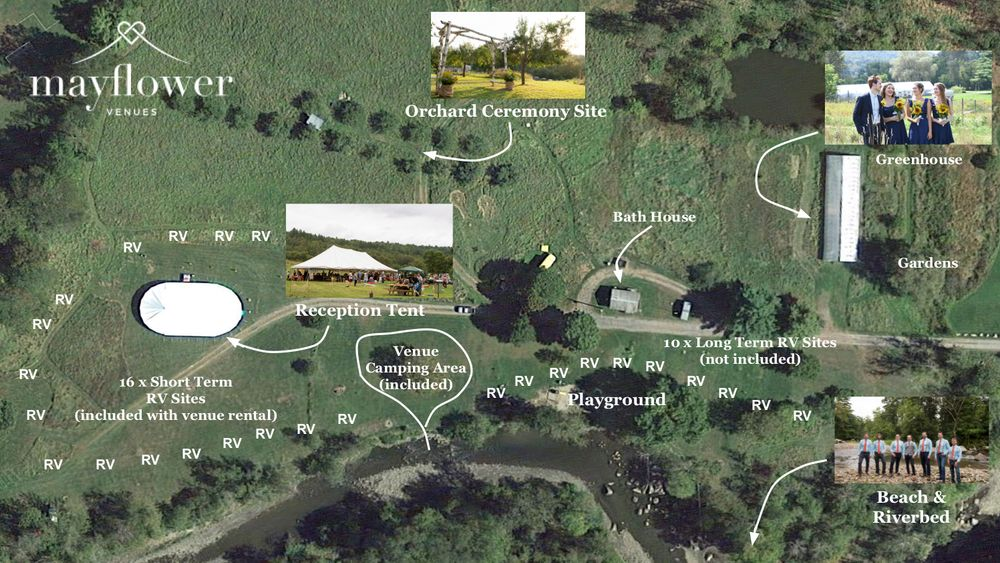 Aerial Map - Venue site and campground.