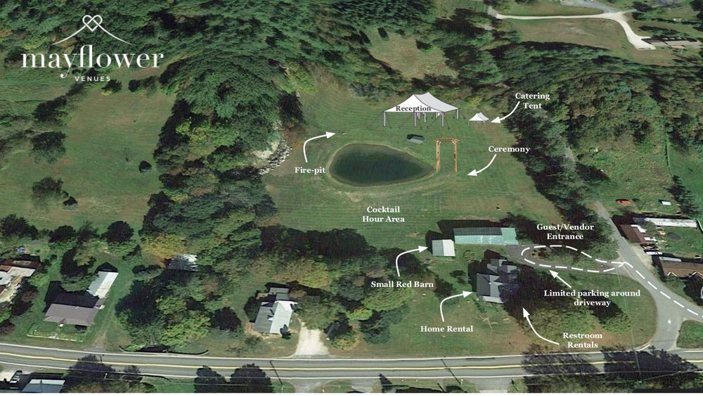 Aerial map of sample event layout.