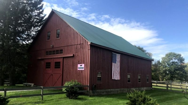 Outside view of the barn.