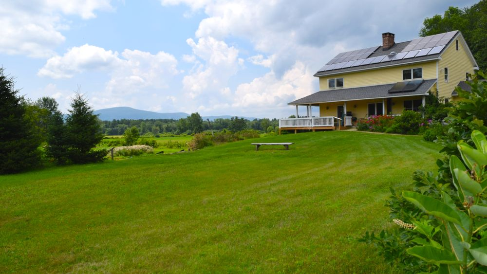 Main ceremony lawn with stunning Berkshire Mountain views in distance.