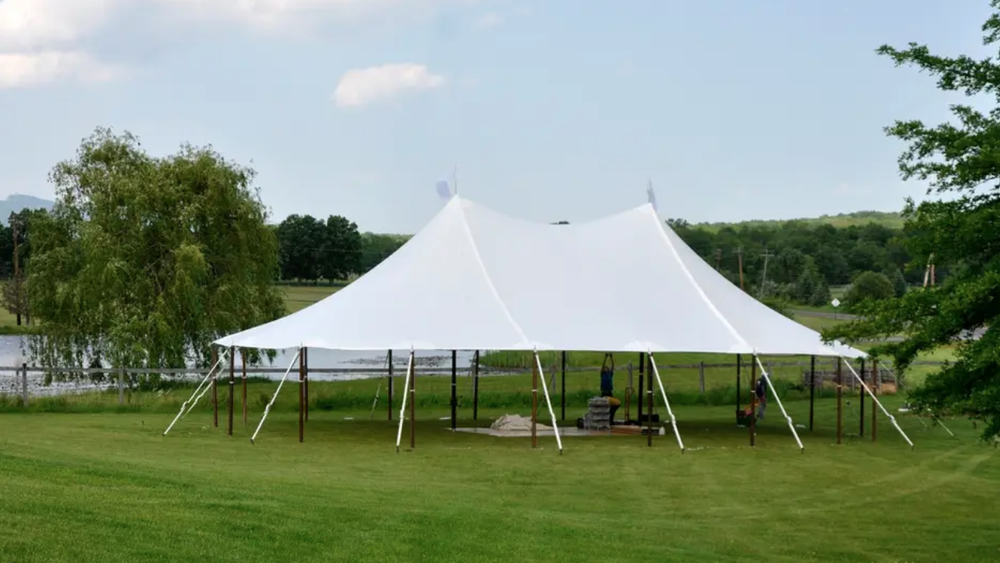 Tent area can be up to 60 X 50 (Beverly Ann Cooper)