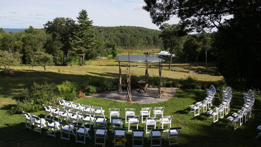 Unique ceremony site for an intimate gathering.