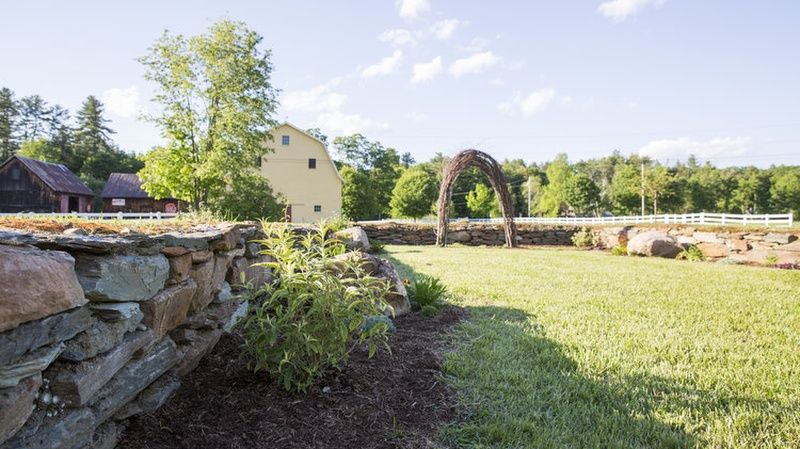"""Foundation"" garden:  Historic house foundation often used for on-site ceremonies. - Photo Credit: Oh Darling Photography"