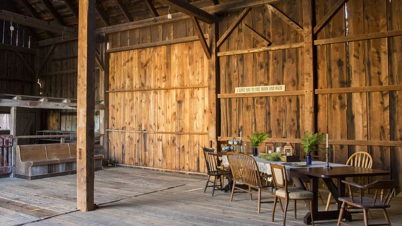 Main event barn interior view. Photo Credit: Oh Darling Photography