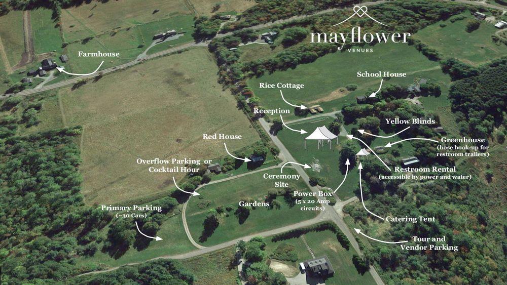 Venue/Event aerial map.