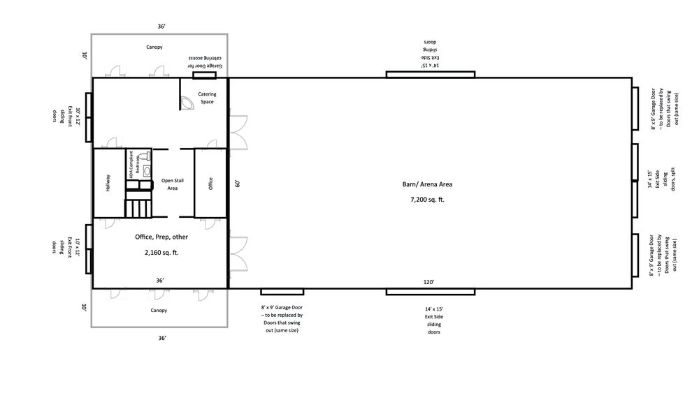 Enchanted Gables - Barn floor-plan.