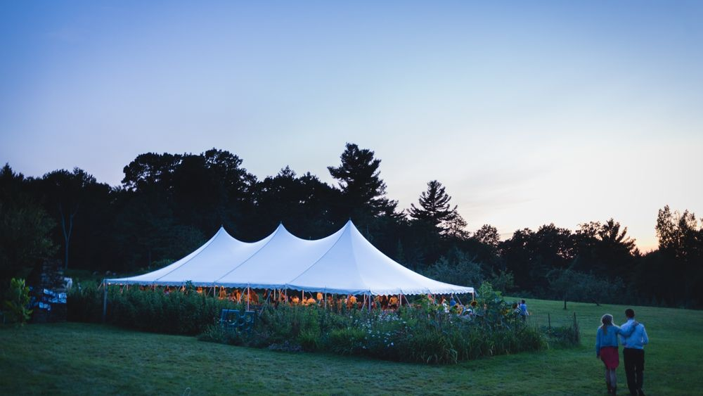 Tented reception area for 175 guests.