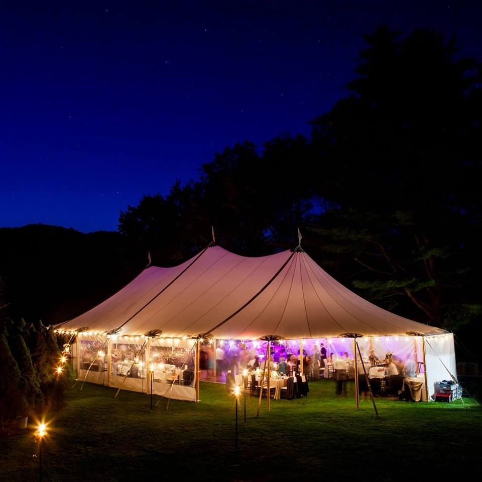 Tent Wedding At Dusk (Elizabeth Bradford Photography)