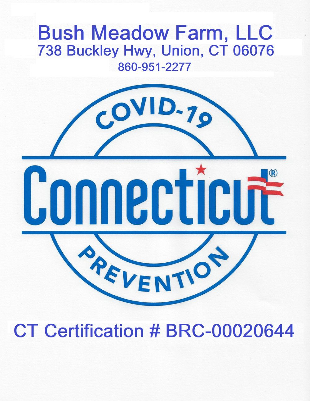 Official State Of Connecticut COVID19 Reopening Approved Location