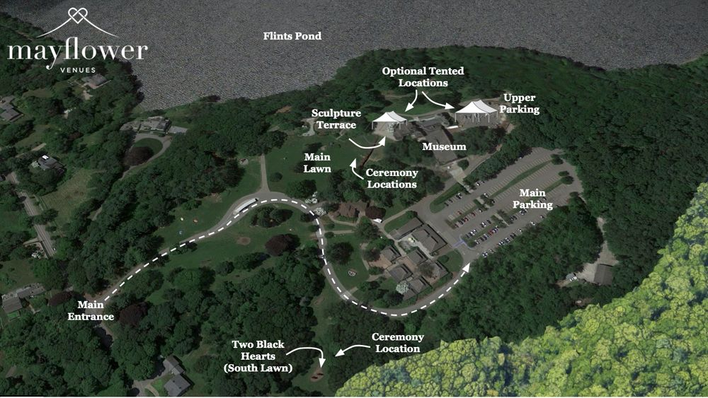 Aerial map of venue and event space.