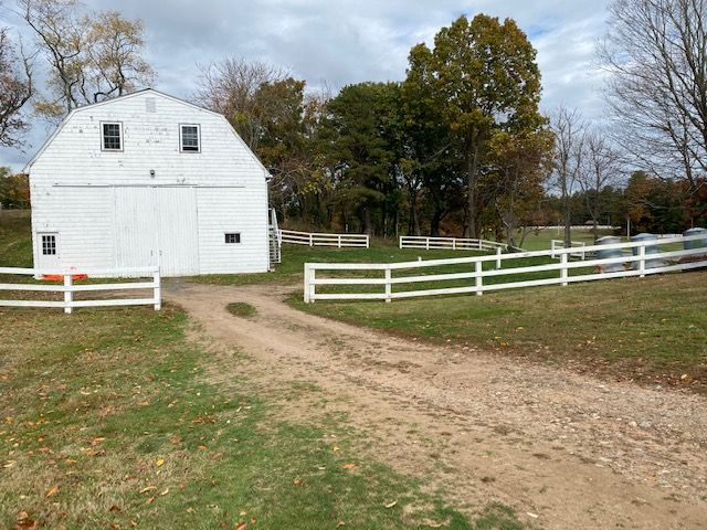 The front side of the Barn and tent area