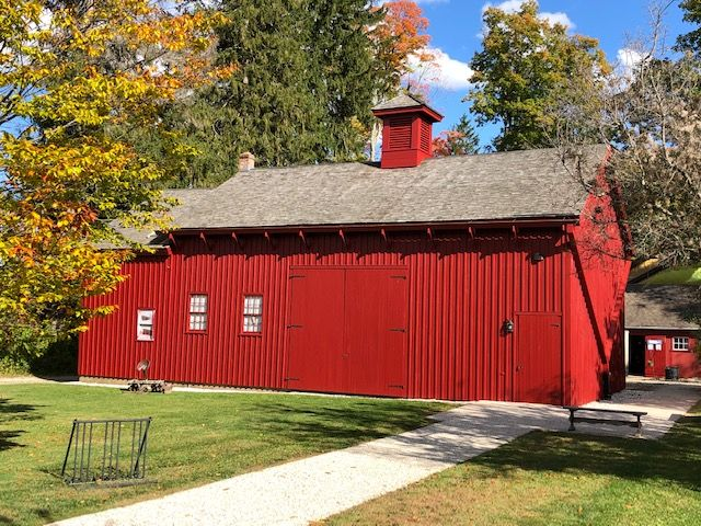 1840s barn at Arrowhead, west facade