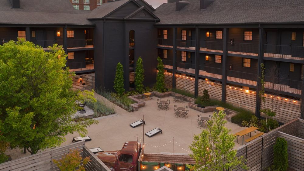 Bode Courtyard - perfect for outdoor tented events.