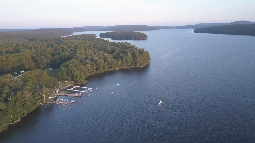 Aerial view of Lake Thompson
