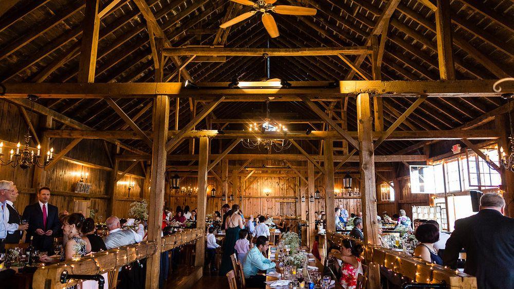 Jaclyn Schmitz Photography - Barn provides elegant indoor reception option from May-November.