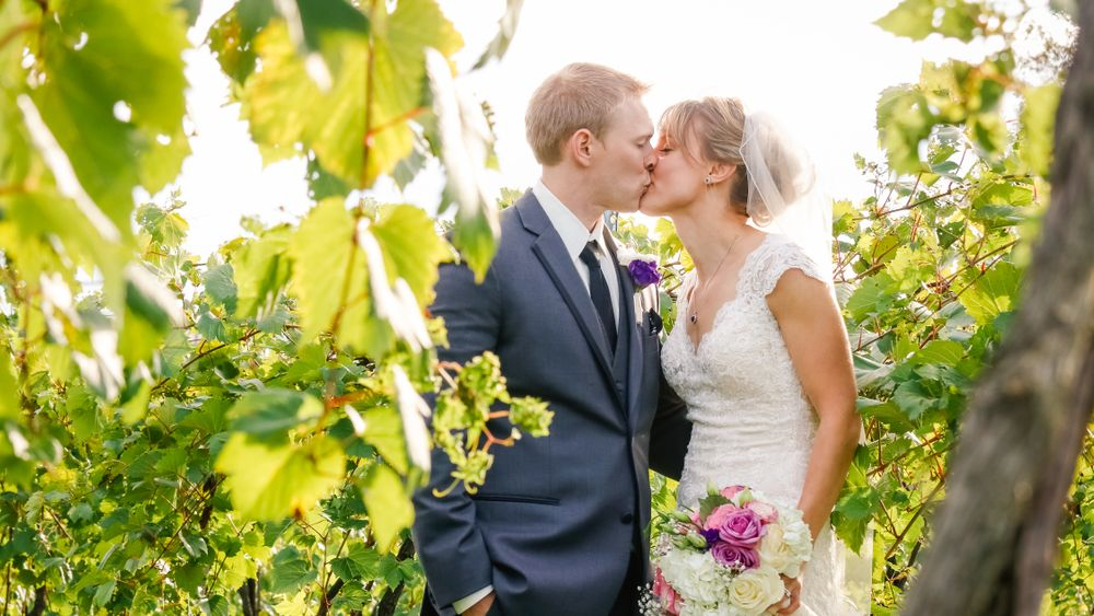 Jaclyn Schmitz Photography - Enjoy a custom wedding shoot in the farm's working vineyard