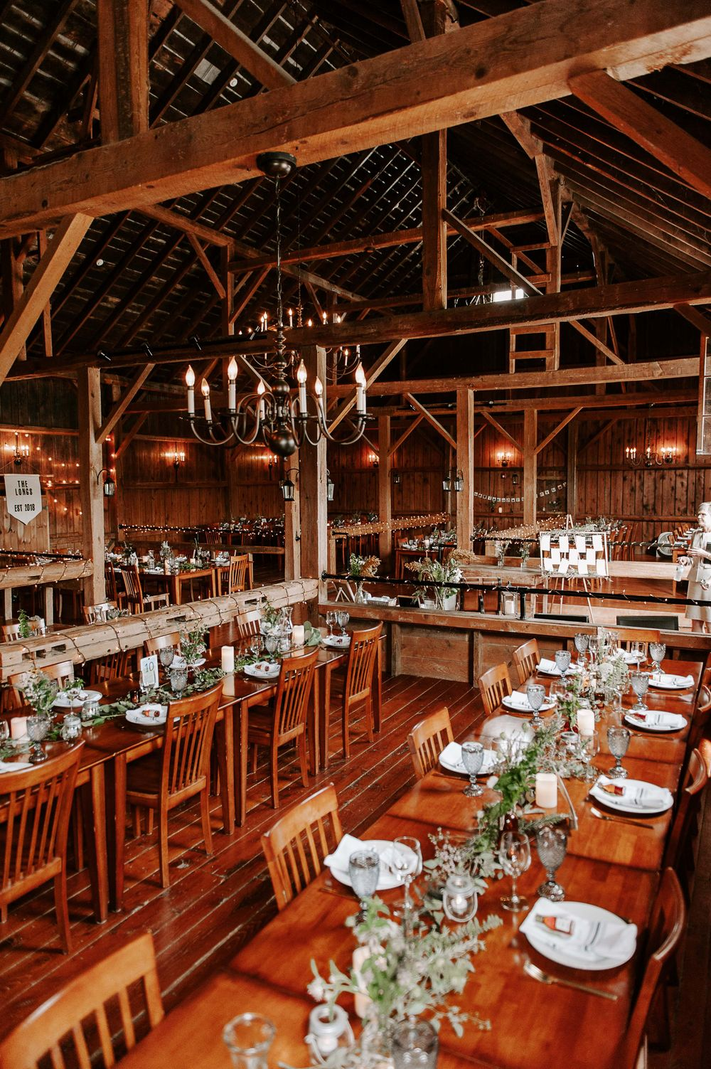 1914 halyloft Barn at Boyden Farm ready and waiting to host it's special guests for dinner. photo credit: L'Orangerie Photo