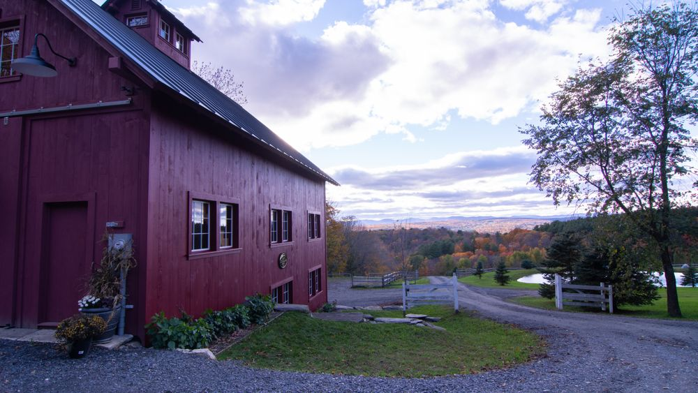 View from behind barn looking down main drive. (Soulular Productions)