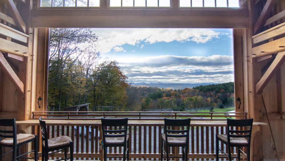 View from main barn floor overlooking the horizon. (Mountain Brothers Media)