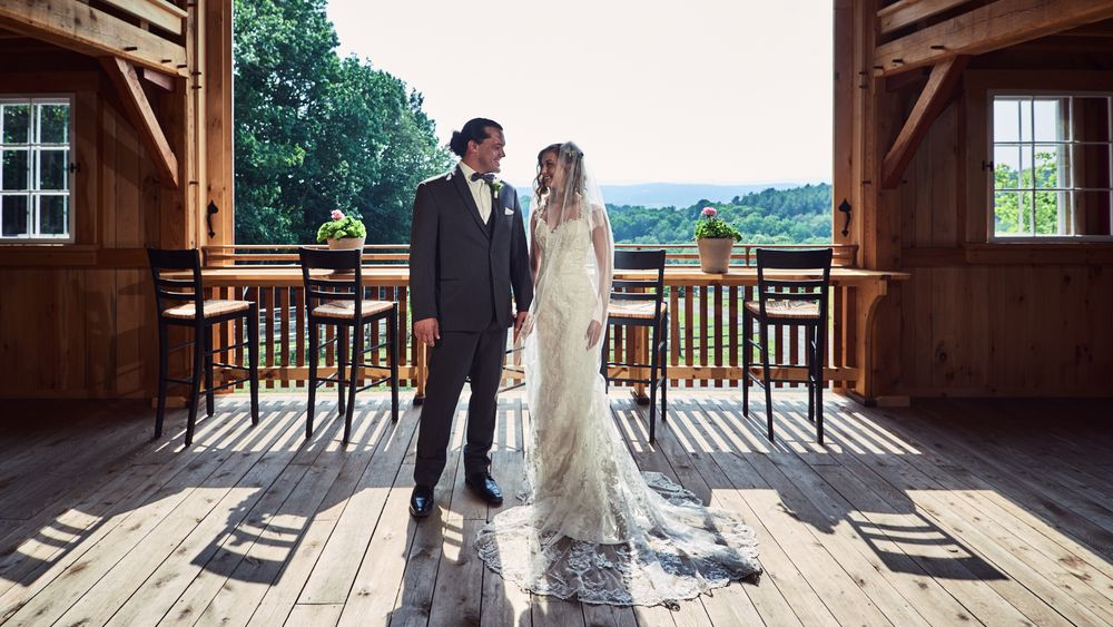 Cate Bligh- THE GREEN BARN WEDDING PHOTOGRAPHY- View on main floor overlooking mountains.