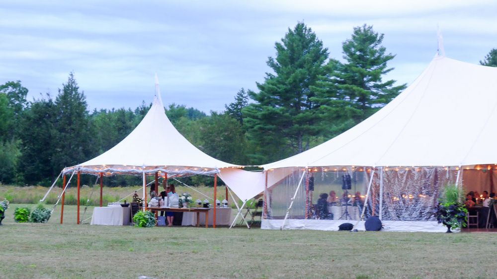 Bar and reception tents.