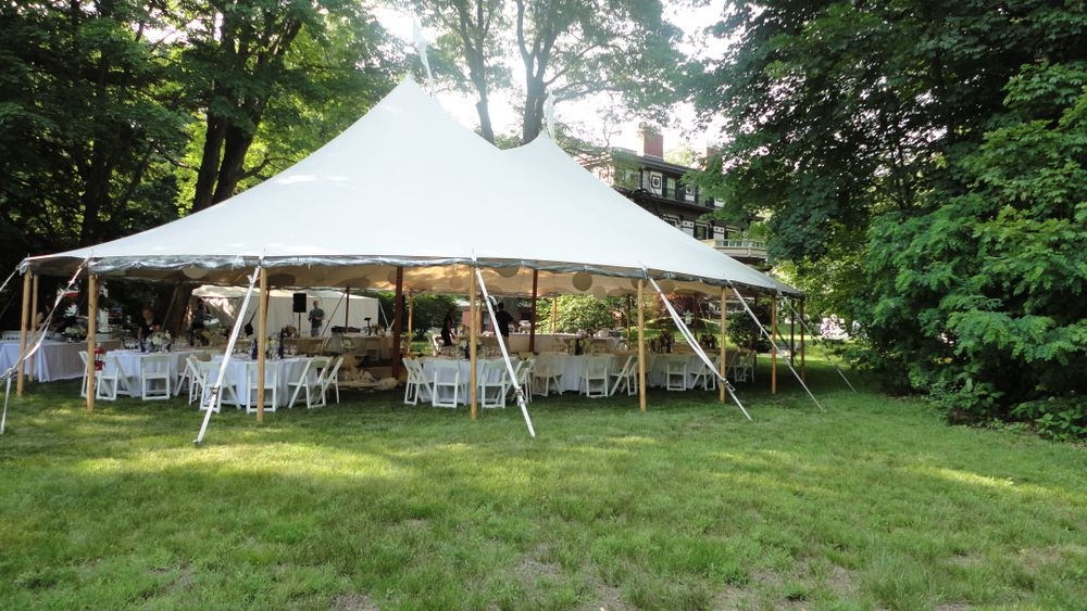 Tented outdoor reception.