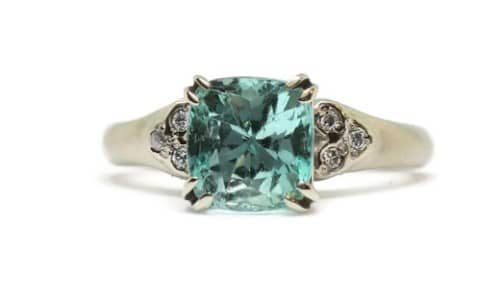 Classic Emerald White Engagement Ring
