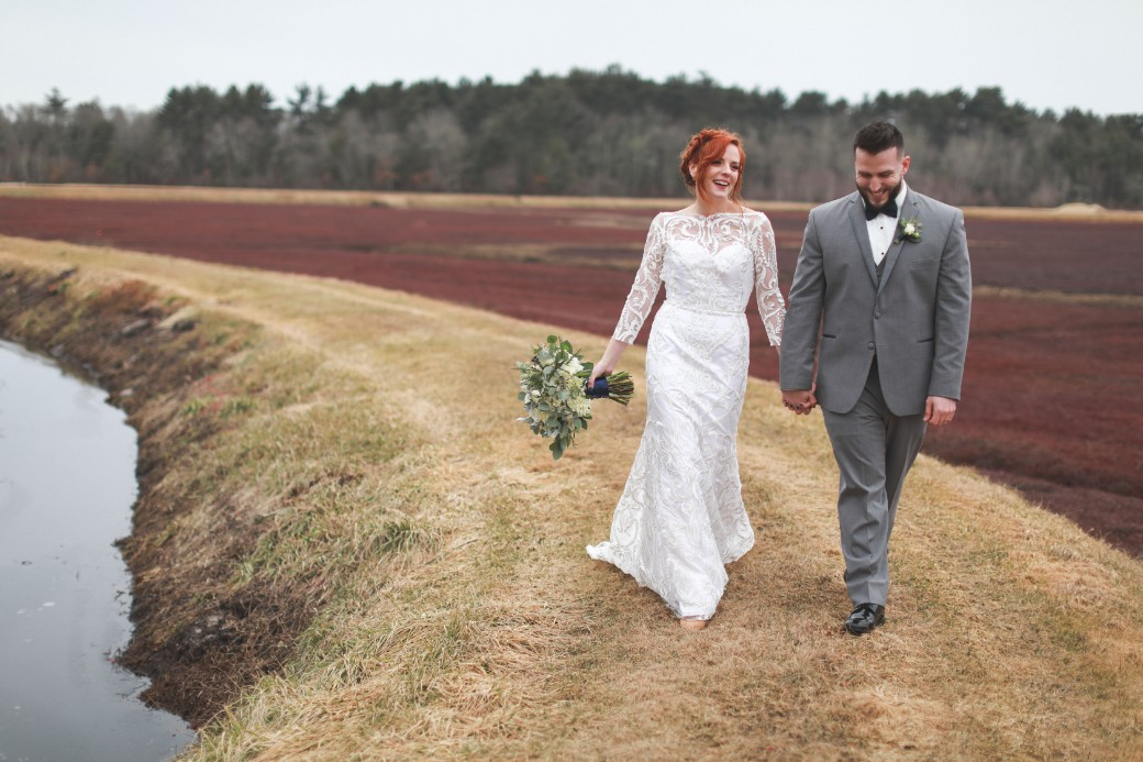 cranberry bog wedding walk