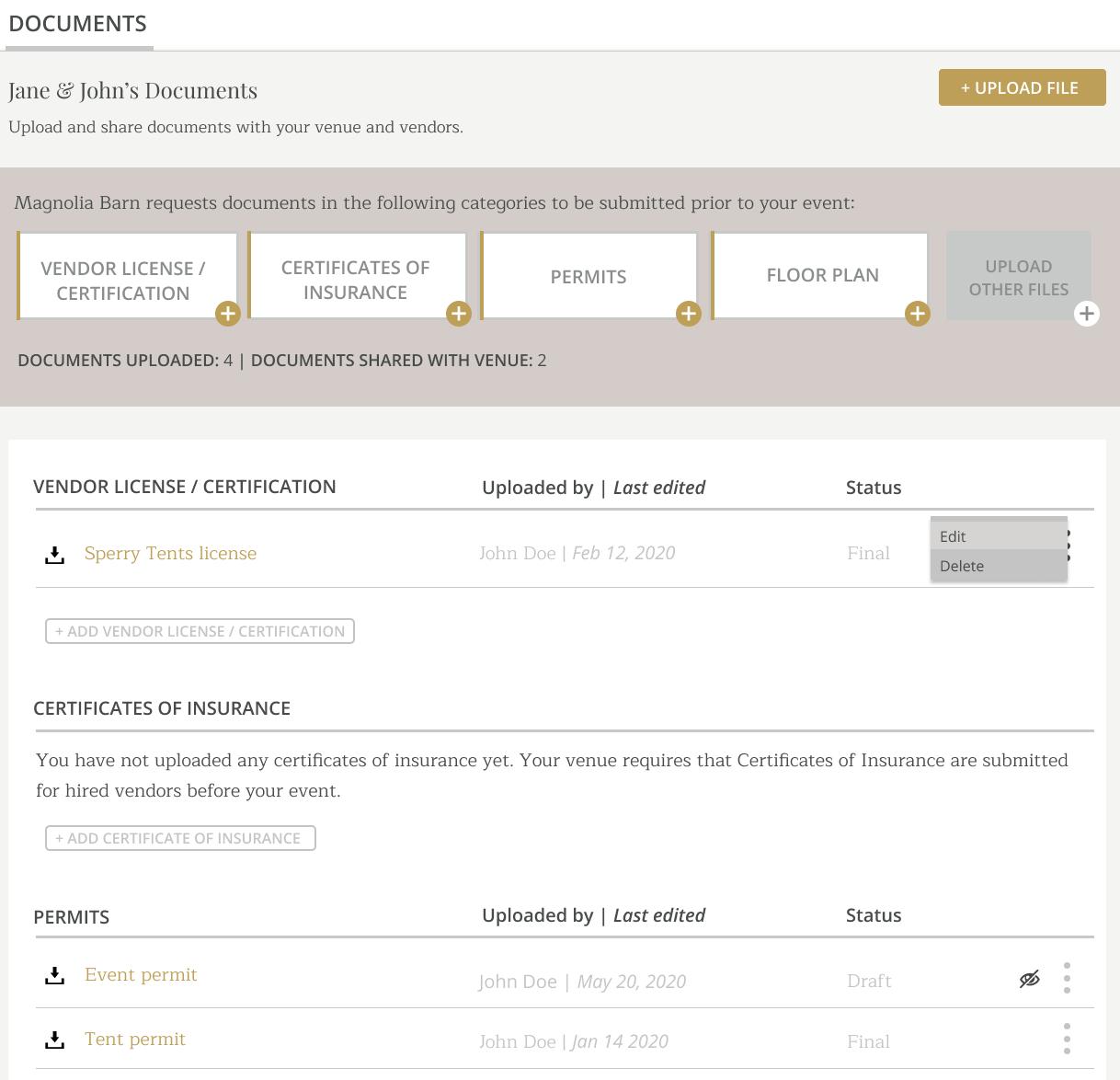 Document Organization