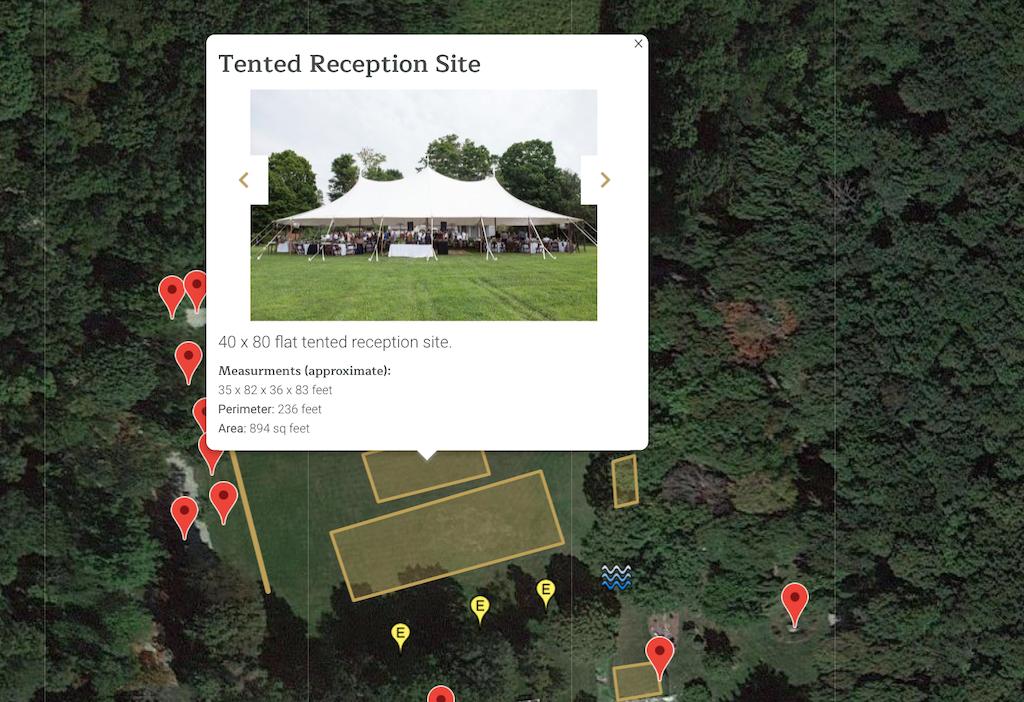 interactive venue map