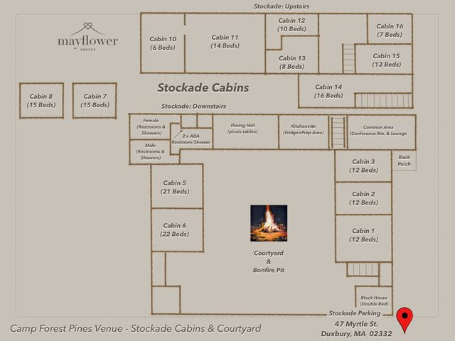 Stockade Cabin Area Map
